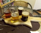 RESERVED For hnk7919 - Michigan Beer Flight - pine barnwood look