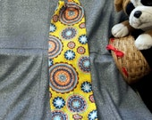 Plastic Bag Holder Sock, Medallions on Gold Print