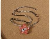 Roller Derby Necklace - hand cast resin pendant with whistle