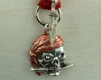 Pirate Pendant necklace with Knife, sold by each