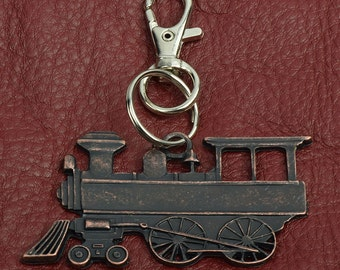 Steam Engine   key Chain ,  zinc cast and plated, sold by each