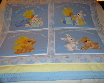 Baby Little Suzy's Zoo Vintage Cotton Baby/Toddler Quilt-Newly Made 2016