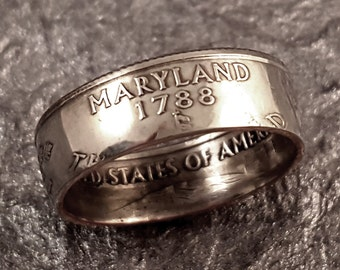 Maryland Coin Ring Size 5 to 10.5 MR0705-TSTMD
