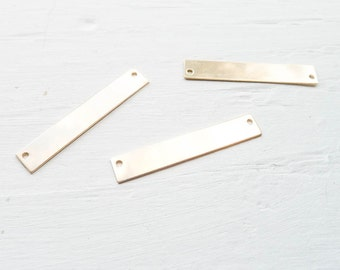 Gold Bar Blank Goldfilled Bar Connector for Necklaces Stamping (BHGF2465H)