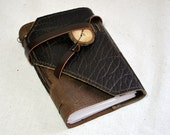 Small Earthy Leather Journal with Recycled Paper