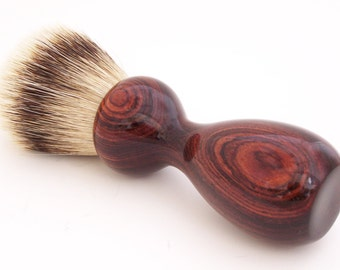 Cocobolo Wood 24mm Super Silvertip Badger Hair Shaving Brush Handle (Handmade in USA) C8 - Gift for Him - Executive Gift - 5th Anniversary