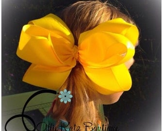 """Extra Large 8"""" Alexis Boutique Hair Bow 6 loop Layered"""