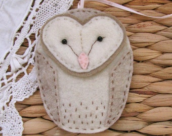 Barn Owl Ornament