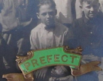 The Perfect Prefect - Enamel School Prefect Badge on Banner