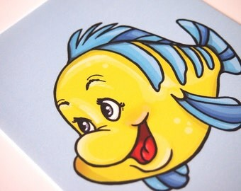 Flounder - The Little Mermaid Postcard
