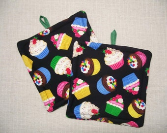 Cupcakes Pot Holder - Trivet - Hot Pad - Insulated - Novelty, For the Kitchen, For the Cook