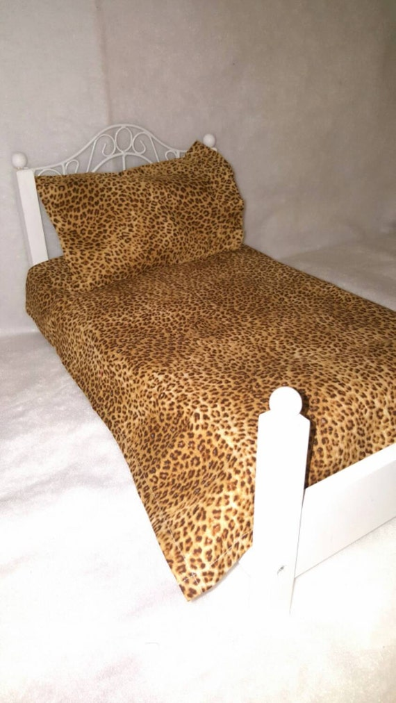 Gorgeous American Girl Leopard Print Sheet Set
