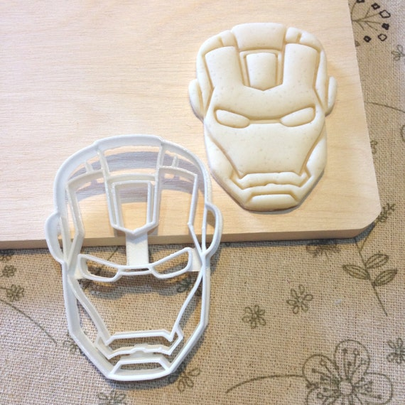 Iron Man Cookie Cutter - Ironman Fondant Icing Cake Cupcake Topper Iced Sugar Cookies Boys Birthday Party Favors Comic Con Superheros