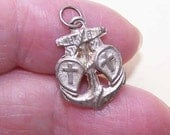 Edwardian FRENCH SILVER Religious Charm/Medal/Pendant - Faith, Hope & Charity