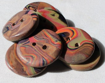 Large Red Jasper Buttons no. 213