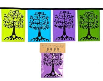 Tree of Life Flags Jewel Tones