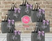 SEVEN bridesmaid bags , bridesmaid make-up bags, monogrammed bag, wedding bag , bridesmaid gifts , personalized bridesmaid gifts