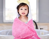 Personalized Yikes Twins Princess  hooded towel