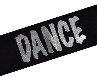 DANCE Smooth Glitter Cotton Stretch Headband by Funny Girl Designs