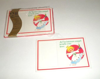 Vintage School Picture Christmas Cards - Christmas Cards - Portrait Insert Cards - Angel Christmas Cards - Litho USA Cards