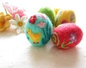 Easter Egg,Felted Egg,Needle felted Ornament,Spring Ornament