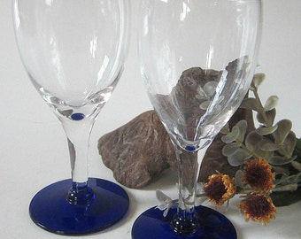 Cobalt Cordial Glass Etsy