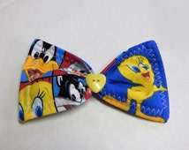 Fabric Hair Bow Looney Tunes