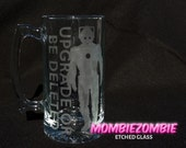 Doctor Who Cybermen Upgrade Stein / Beer Mug Etched glass