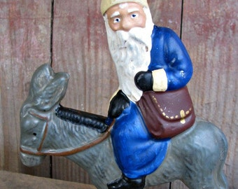 Chalkware Belsnickel Riding A Donke