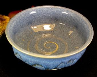 Lather Bowl - Pottery Shaving Mug 33%Off - Blue Medium Sized Shaving Bowl - Shaving Soap Bowl -Shaving Accessories -Shaving Set -InStock
