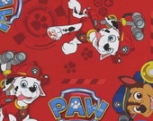 Nick Jr. Paw Patrol Red Rescue cotton juvenile fabric by David Textiles