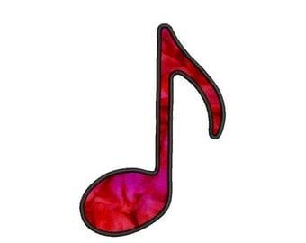 SALE 65% off Applique Music Note Machine Embroidery Designs 4x4 & 5x7 Instant Download Sale