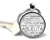 ON SALE - ABUELITA Charm Keychain - Gifts for Abuelita, Birthday Gift, Mothers Day Gift, Gifts for New Grandma, Stocking Stuffer, Gifts for