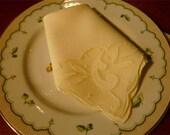 Set of 4-Madeira Embroidered Napkins~Yellow~Irish Linen & Organdy