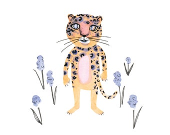 Hyacinth Leopard Giclee print