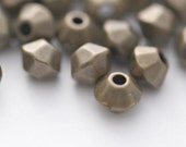Vintage Faceted Antique Bronze Saucer Lucite Spacer Beads 5mm (50)