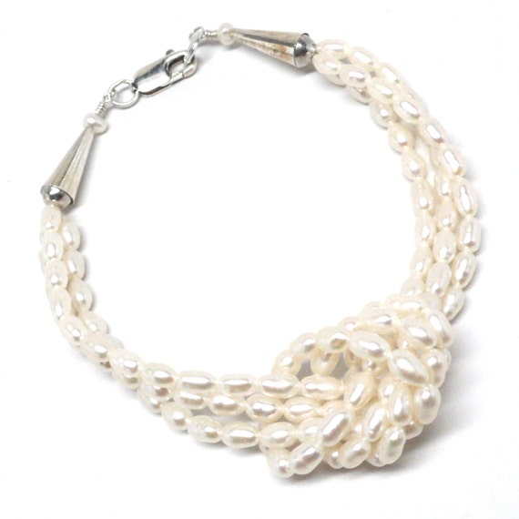 freshwater pearl 3 strand bracelet