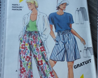 Burda Pants and Shorts Pattern 0001 Size 8-18