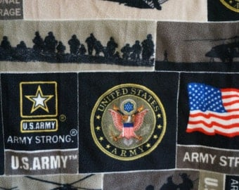 U.S. Army Double Layer Quilted Fleece Blanket and Pillow Set