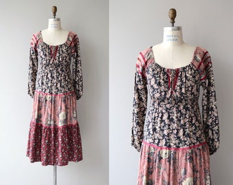 Wildwood dress | vintage 1970s floral dress | floral print 70s dress