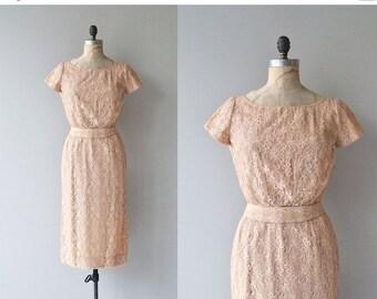 25% OFF.... Soft Spoken dress | 1950s lace dress | vintage 50s cocktail dress