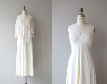 Inessa wedding gown & lace cape | vintage 1970s wedding dress | white 70s maxi dress and lace capelet