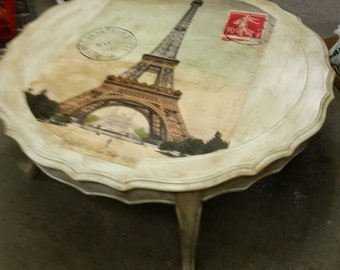 Vintage Painted French Coffee Table