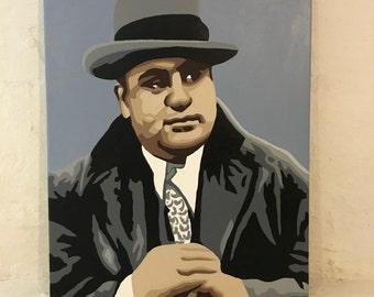 "16"" x 20"" Al Capone Painting"