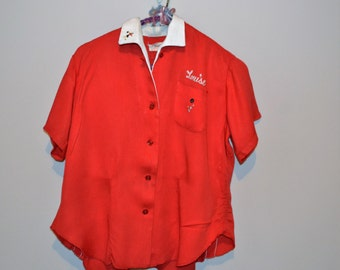 Vintage 1950's Bowling Blouse King Louie