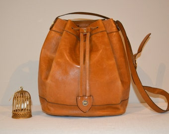 SALE....Salvatore Ferragamo Vintage English Leather Hobo Bag