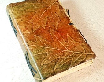 ONE-OF-A-KIND Leaves Leather Journal