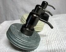 Sale Mason Jar Soap Pump. LID ONLY silver galvanized lid with black soap pump DIY Mason Jar Soap Dispensers