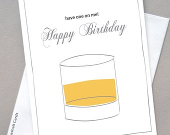 Whisky Birthday Card, For Him. Whisky, Birthday, Masculine, New Stockist Special Free Shipping Starter Pack, Wholesale