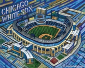 Chicago White Sox, US Cellular Field, White Sox Stadium, 8x10 Art Print by Anastasia Mak